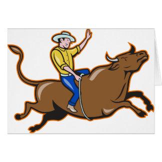 Vaquero tarjetas de felicitación de Bull que