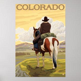 Vaquero (visión desde la parte posterior) Colorado Posters