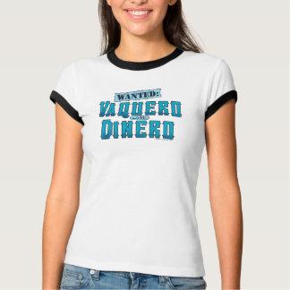 Vaquero With Dinero Ladies Ringer T-Shirt