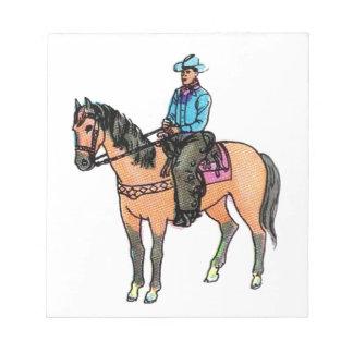 Vaquero y caballo bloc de notas