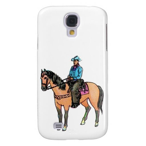 Vaquero y caballo funda para galaxy s4