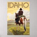 Vaquero y caballo - Idaho Posters