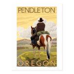 Vaquero y caballo - Pendleton, Oregon Postales