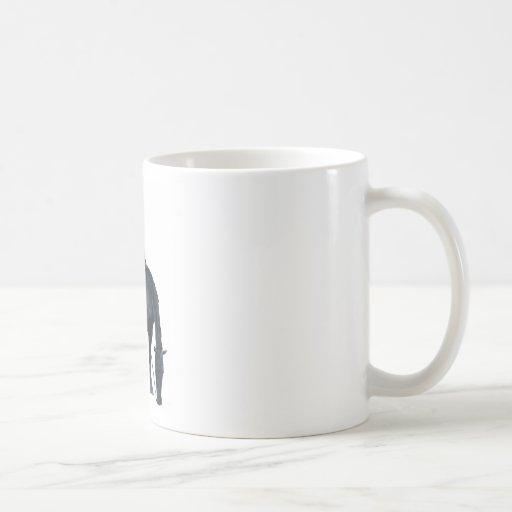 Vaquero y caballo tazas de café