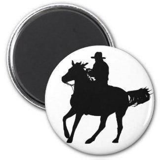 Vaquero y su caballo imán de nevera