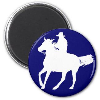 Vaquero y su caballo imanes de nevera