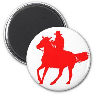 Vaquero y su caballo imanes para frigoríficos