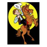 Vaquero y su caballo tarjeta postal