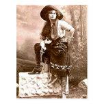Vaqueros 21 del vintage postal