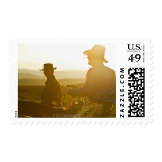 Vaqueros 5 sellos postales