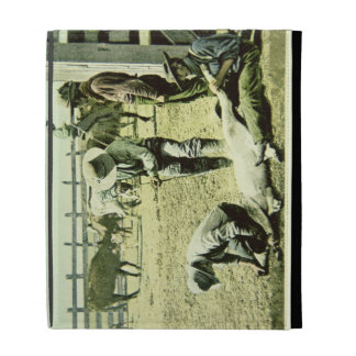 Vaqueros americanos que califican un becerro, c.19