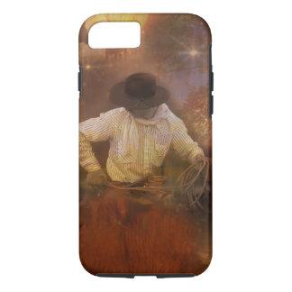 Vaqueros - botas, caballos salvajes y puestas del funda iPhone 7