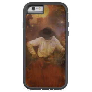 Vaqueros - botas, caballos salvajes y puestas del funda tough xtreme iPhone 6