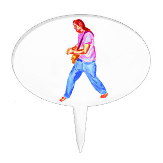 vaqueros de la camisa del rosa del jugador de la g figura de tarta
