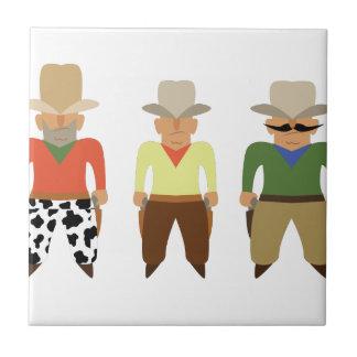 Vaqueros de la galería de tiroteo azulejo cuadrado pequeño