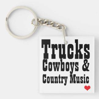 Vaqueros de los camiones y llavero de la música co