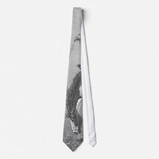 Vaqueros del rodeo del vintage, caballo salvaje corbata personalizada