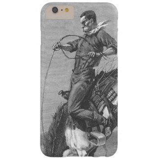 Vaqueros del rodeo del vintage, caballo salvaje funda para iPhone 6 plus barely there