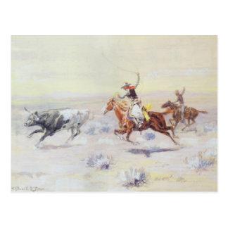 Vaqueros del triángulo de la barra por cm Russell Tarjetas Postales