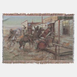 Vaqueros del vintage, adentro sin golpear por cm manta