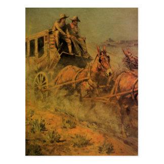Vaqueros del vintage, el coche de la etapa de Juan Postal