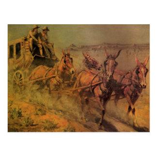 Vaqueros del vintage, el coche de la etapa de Juan Tarjeta Postal