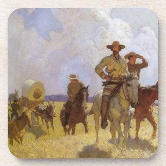 Vaqueros del vintage, el equipo de Parkman por NC Posavasos De Bebida