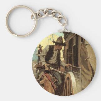 Vaqueros del vintage, el proscrito admirable por llavero redondo tipo pin