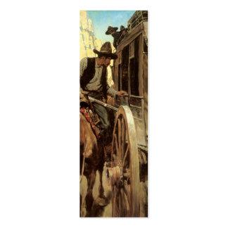 Vaqueros del vintage, el proscrito admirable por tarjetas de visita mini