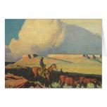 Vaqueros del vintage, gama abierta de Maynard Tarjeta De Felicitación