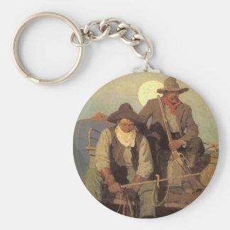 Vaqueros del vintage, la etapa de la paga por NC Llavero Redondo Tipo Pin