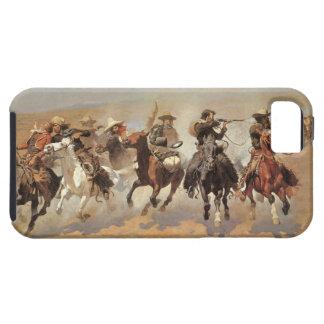 Vaqueros del vintage, una rociada para la madera funda para iPhone 5 tough