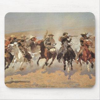 Vaqueros del vintage, una rociada para la madera mouse pad
