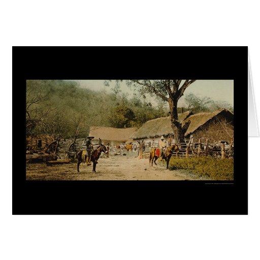 Vaqueros en la hacienda mexicana 1890 tarjetas