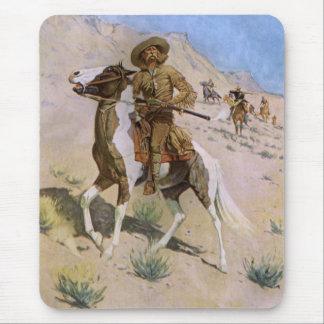 Vaqueros militares del vintage, el explorador por alfombrilla de raton