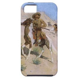 Vaqueros militares del vintage, el explorador por iPhone 5 carcasa