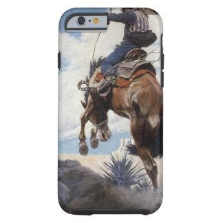 Vaqueros occidentales del vintage, Bucking por NC Funda De iPhone 6 Tough