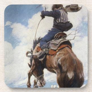 Vaqueros occidentales del vintage, Bucking por NC Posavasos De Bebida