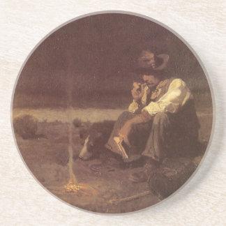 Vaqueros occidentales del vintage, pastor de los posavasos manualidades