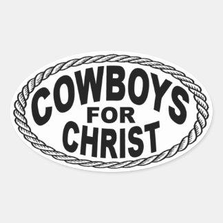 Vaqueros para el estilo del euro de Cristo Calcomanías De Ovales Personalizadas