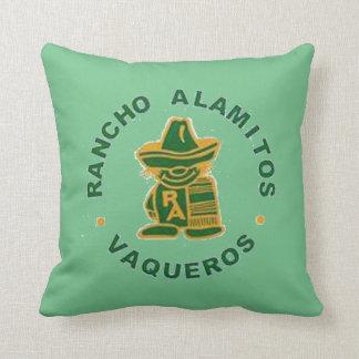 Vaqueros Pillow With Poco, Alma Mater on Back
