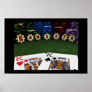 Vaqueros - poster pulido grande del póker