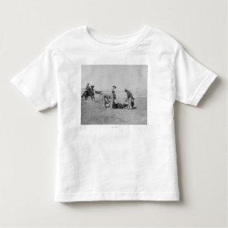 Vaqueros que califican un becerro PhotographSouth Camisas