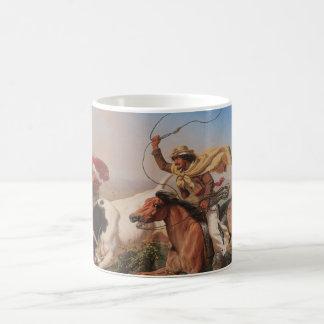 Vaqueros Roping a Steer Classic White Coffee Mug