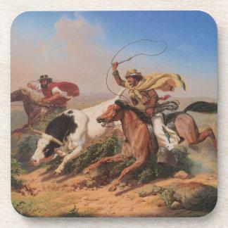 Vaqueros Roping a Steer Coaster