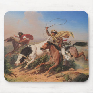 Vaqueros Roping a Steer Mouse Pad