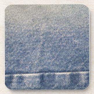 Vaqueros/tela descolorados del dril de algodón posavasos de bebidas