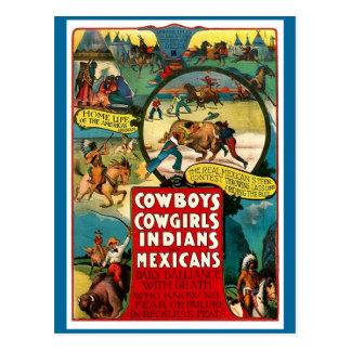 Vaqueros, vaqueras - postal