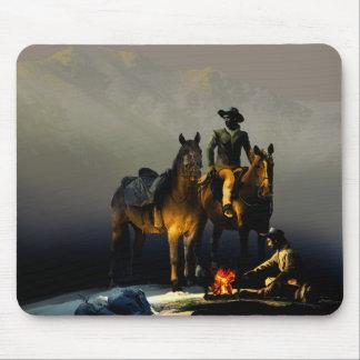 Vaqueros y cojín de ratón de los caballos tapete de raton