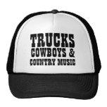 Vaqueros y música country de los camiones